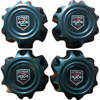4 x Black Screw-In Centre Cap Domes to Suit 6/139.7 Maximum 106.1 Centrebore