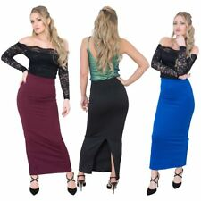 Jolie Max Women Long Pencil Maxi Skirt Stretch Bodycon Size 10 to 20 Casual