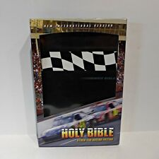 NIV Study Bible Leather Stock Car Racing Thinline Black Duo Leather New