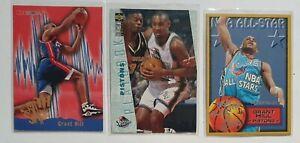 Lot de 3 Cartes Basketball NBA Grant Hill Detroit Pistons Fleer / Hoops /...