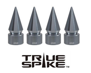 4 TRUE SPIKE GUNMETAL SPIKED TPMS WHEEL AIR VALVE STEM COVER CAP FOR HYUNDAI