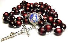 St Jose Luis Sanchez del Rio relic cherry color rosary Mexican Cristero martyr