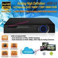 4 Channel Analog HD 1080P H264 AHD Security CCTV DVR Recorder iPhone Android P2P