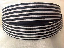 25mm Strips Black Grosgrain  Ribbon  3 Meters Length  HairBows Craft Scrapbook