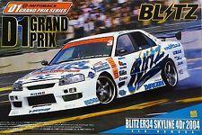 Aoshima  1/24 Scale Blitz ER34 Nissan Skyline 4Dr 2004 - D1 Grand Prix Series.