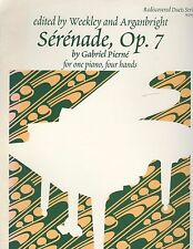 Pierne Serenade Op. 7 Intermediate Piano Duet 4 Hands Weekley