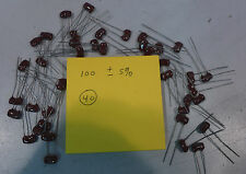 Mica Capacitor 100 pF ±5% Lot of 40