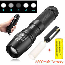 12000lm XM-L T6 LED Flashlight Zoomable Tactical 26650 Torch Lamp Battery+Charge