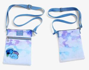 "Loungefly Disney Lilo and Stitch Passport Crossbody Bag Purse ""Sleeping Stitch"""