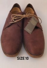 GENTS M&S BROWN SUEDE  SHOES SIZE 10
