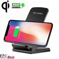 Qi Wireless Rapid Charger Charging Stand Dock Pad For Apple iphone X 8 7 6 Plus