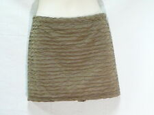 "OLD GOLD STRETCHY CRINKLE SKIRT, SUPRE, M,  12 TO 14  AUZ  ""NWT"" RRP $18 C01"