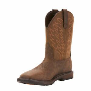 Ariat Mens Groundbreak Soft Toe Work  Western Boots 10024984
