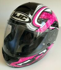 """HJC CL-16 Shock Motorcycle Helmet Black/Pink, Size Small (6 7/8"""" to 7"""") NICE!"""