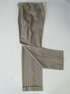 Kiton Napoli Hand made in Italy Khaki brown Pants Waist- 40 Inseam-32