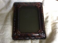 Vintage Ornate Faux Tortoise Shell Shadowbox Picture Frame