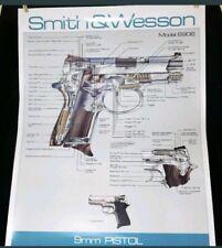 SMITH & WESSON 9mm Pistol Handgun Model 6906 rare Diagram Poster gun