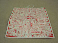 Coach paper shopping bag large size red 18.5 X 18 X 7   pre-owned used