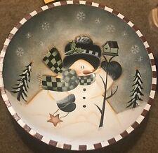 New Listingdecorative christmas snowman bowl