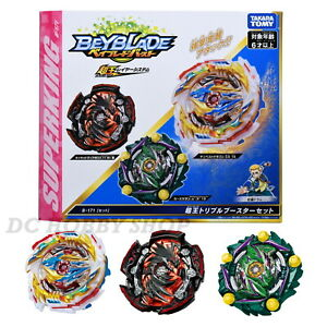 Takara Tomy Beyblade Burst SuperKing B-171 Triple Booster set Tempest Dragon