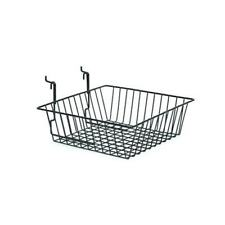 Wire Basket for slatwall or grid mesh panel 30x30x10cm
