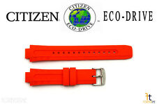Citizen Eco-Drive E168-S061903 Original 14mm Orange Rubber Watch Band S061890