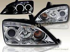 2005 2006 2007 Ford Focus ZX4 Projector Headlights CCFL Twin Halo New