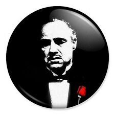 "Don Vito Corleone 25mm 1"" Pin Badge Button The Godfather Godparent Christening"