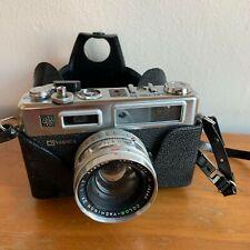 Yashica Electro 35 GSN 35mm Rangefinder Film Camera w/ case 45mm lense untested
