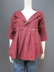 . DANIELA GREGIS 100 % cotton jacket NEW with TAG  large satety pin to adjust