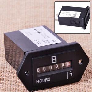 AC 100-250V Engine Generator Sealed Hour Meter Counter Timer 6 Digit Display