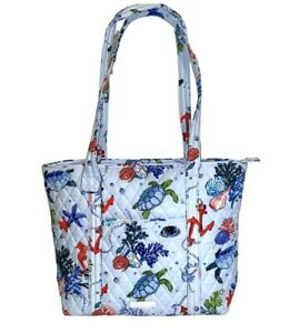 Vera Bradley Small Vera Tote ANCHORS AWEIGH Quilted Tote Turtles, Sea Life
