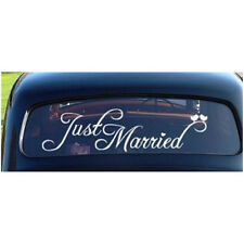 Just Married Wedding Car Cling Decal Sticker Window Decoration