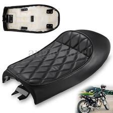 Universal Vintage Hump Saddle Motorcycle Custom Cafe Racer Seat Black For Honda