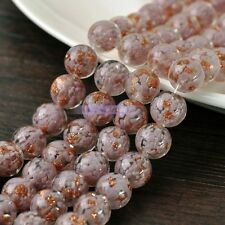 Czech Round Lampwork Glass Crystal Loose Spacer European Beads 12, 14, 16, 20mm