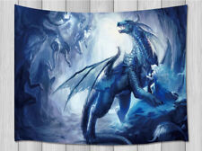 Ice Magic Dragon & Fairy Tapestry Wall Hanging Rug for Living Room Bedroom Dorm
