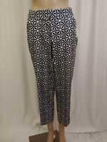 Laundry By Shelli Secal Womens Cropped Pants Size 6 Black White W30  Inseam 26
