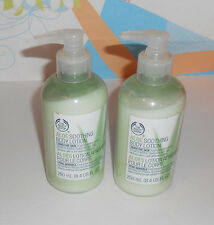 The Body Shop Aloe Soothing Body Lotion For Sensitive Skin 8.4 oz X 2 New Rare