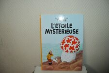 LIVRE BD AVENTURES TINTIN  L ETOILE MYSTERIEUSE  CASTERMAN HERGE COMME NEUF