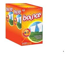 BOUNCE FABRIC SOFTENER DRYER SHEETS OUTDOOR FRESH SCENT (( 320 PER BOX ))
