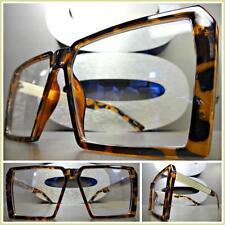 Men's or Women VINTAGE RETRO Style Clear Lens EYE GLASSES Tortoise & Gold Frame