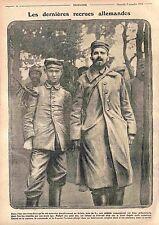 Prisoners Feldgrauen Deutsches Heer Soldats Allemands Bataille d'Artois WWI 1915
