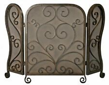 "Fireplace Screens - ""Hampton Court"" Fireplace Screen - Bronze Finish / Wire Mesh"