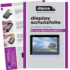 2x Asus MemoPad ME301T Schutzfolie klar Displayschutzfolie Folie unsichtbar