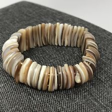 Sea Shell Elastic Bracelet Pieces Natural Statement Bracelet Luau