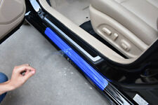4pcs 5D Car Door Scuff Plate Sill Cover Panel Step Protector Anti-kick Scratch