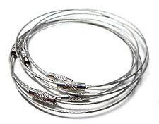 lot de 5 bracelets câblé semi-rigide en acier inoxydable avec fermoir à visser
