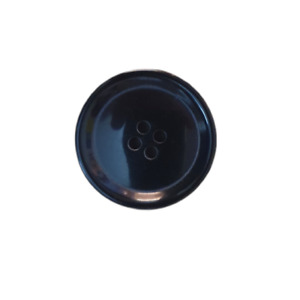 Black 4 Hole New Style Flat Dished Horn Button 20mm & 25mm For Coats & Jackets