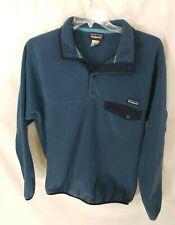 Patagonia Snap T Blue Synchilla Pullover Fleece Mens M Broken Button