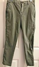 Gap Olive Green Girlfriend Chino Crop Pants Size 2